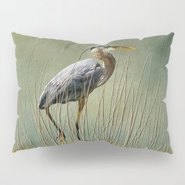 Great Blue At The Beach Pillow Sham
