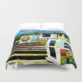 Bright blue sky, bright colors. Duvet Cover