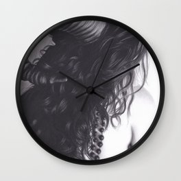 Realism Drawing of Sexy Horned Beast Wall Clock