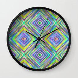 Crazy Squares (2018) Wall Clock
