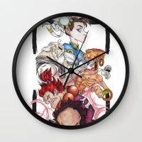 street fighter Wall Clocks featuring Street Fighter by Mazuki Arts