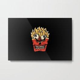 Zombie French Fries Metal Print