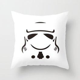 Stormtrooper so serious Throw Pillow