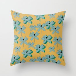 lotus opening Throw Pillow