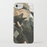 kakashi iPhone & iPod Cases featuring Kakashi & Cat by MMCoconut