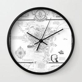 Hampton Historical Map Wall Clock