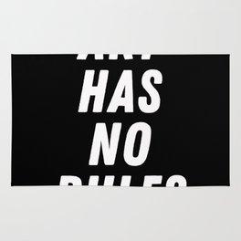 Art has no rules Rug