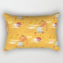 Skateboarders Holiday Pattern Rectangular Pillow