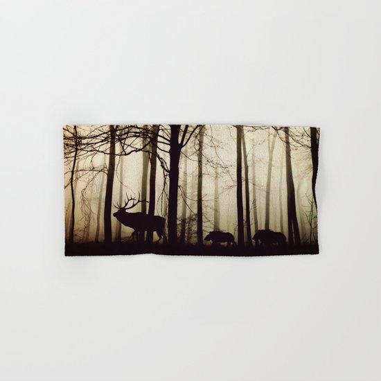 Forest night deer Hand & Bath Towel