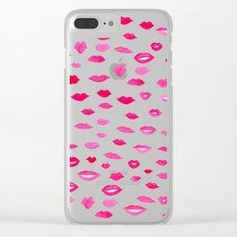 Kiss Kiss Bang Bang Clear iPhone Case