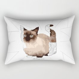 Geometric Animal - Munchkin Cat Rectangular Pillow