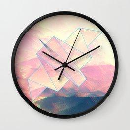digitally flying bird through the hills Wall Clock