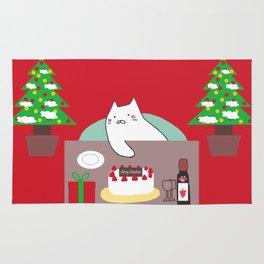 cat Christmas tree 15 Rug