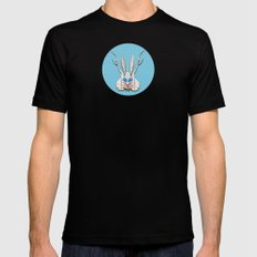 THE JACKALOPE Mens Fitted Tee MEDIUM Black
