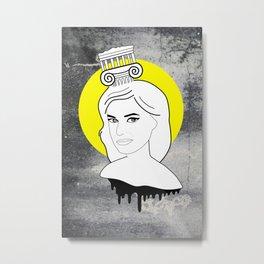 Melina Eyes Metal Print