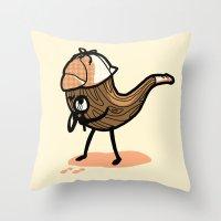 sherlock Throw Pillows featuring Sherlock  by Jonah Makes Artstuff