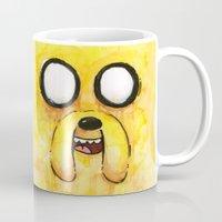 jake Mugs featuring Jake Face by Olechka