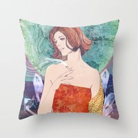 diamonds Throw Pillows featuring Diamonds by Ryan Haran