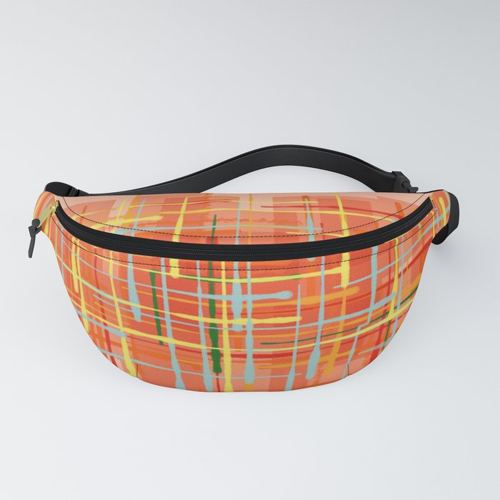 Abstract Orange Terminal Fanny Pack