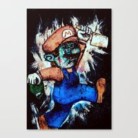 mario Canvas Prints featuring Mario by Tufty Cookie