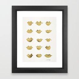Kiss Collection – Gold Ink Framed Art Print