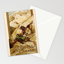 Vintage 1885 Cordial Campari Advertisement by G. Mora Stationery Cards