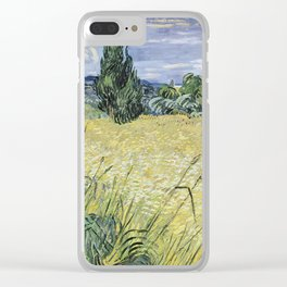 Vincent van Gogh - Landscape with Green Corn Clear iPhone Case