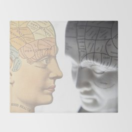Phrenology | A Picture of Good Health circa 1881 Throw Blanket