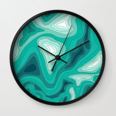 ocean dephts map Wall Clock