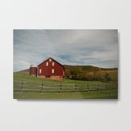Country Red Barn in the Shenandoah Valley Metal Print