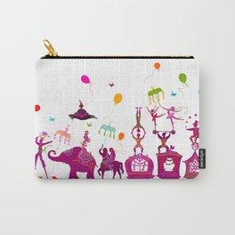 colorful circus carnival traveling in one row on white background Carry-All Pouch