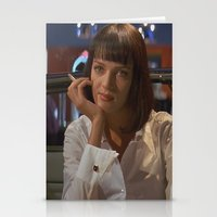 mia wallace Stationery Cards featuring Mia Wallace  by Claudia