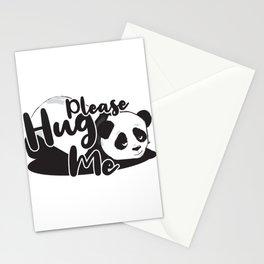 Hug me hugging love panda gift Stationery Cards