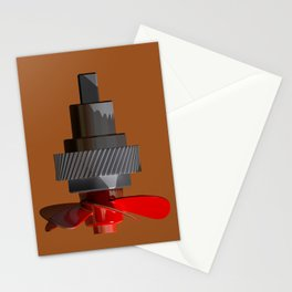 Propeller with gear Stationery Cards