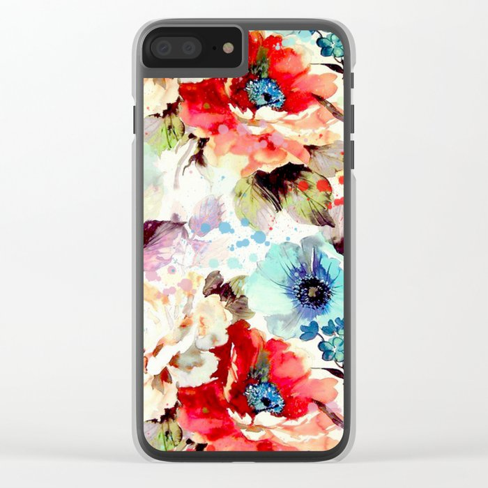 Poppies 03 Clear iPhone Case