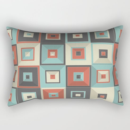 Lost in Squares V Rectangular Pillow