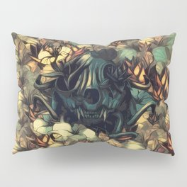 The skull, the flowers and the Snail Warm Pillow Sham