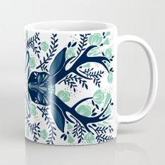 Floral Antlers – Navy & Mint Palette Mug
