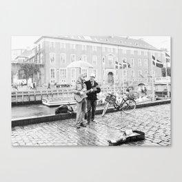 Rain in Copenhagen Canvas Print
