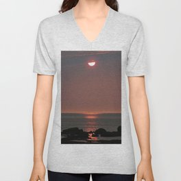Glowing Light From Above Unisex V-Neck