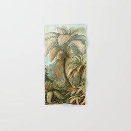 Vintage Tropical Palm Hand & Bath Towel