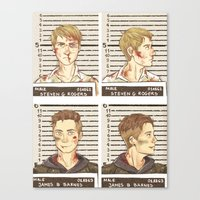 stucky Canvas Prints featuring stucky mugshots by maria euphemia