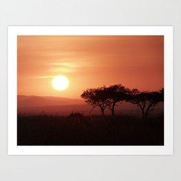 Sunrise in Maasai Mara Art Print