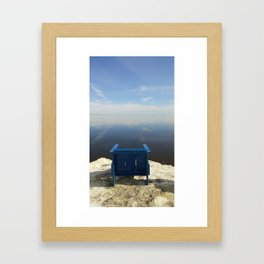 The Blue Chair at the Sea Framed Art Print