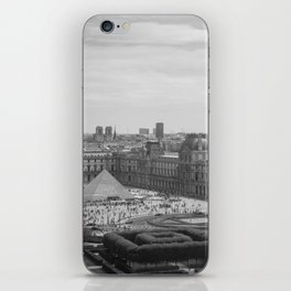 Postcard from Paris. Black and White Vintage Photography. iPhone Skin