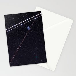 Flightpath in the Stars Stationery Cards