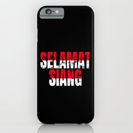 Hello Indonesian  iPhone Case