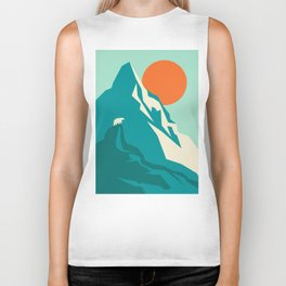 As the sun rises over the peak Biker Tank