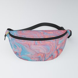 Pink & Turquoise Watercolor Fanny Pack