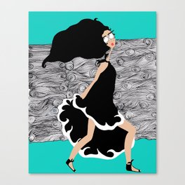 Run Earthling Run Canvas Print